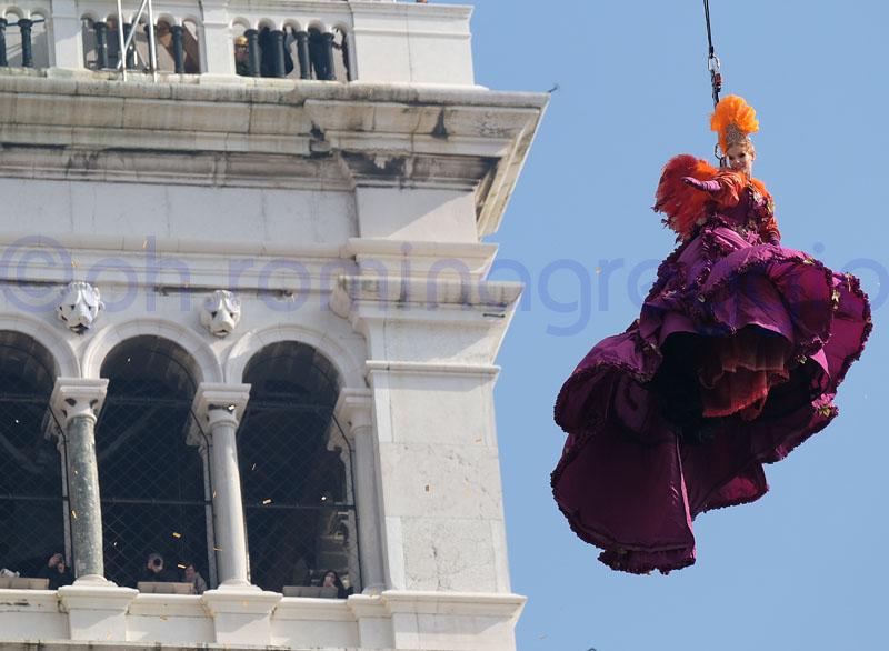 Volo dell'Angelo, Carnevale di Venezia
