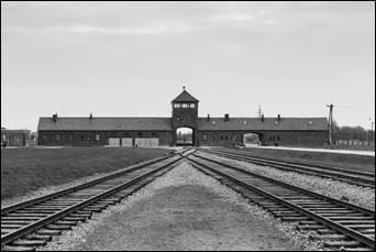 al termine del binario Auschwitz